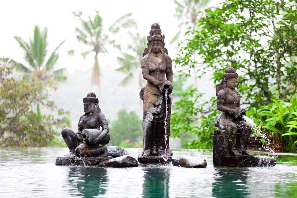 на Бали в январе дождливо