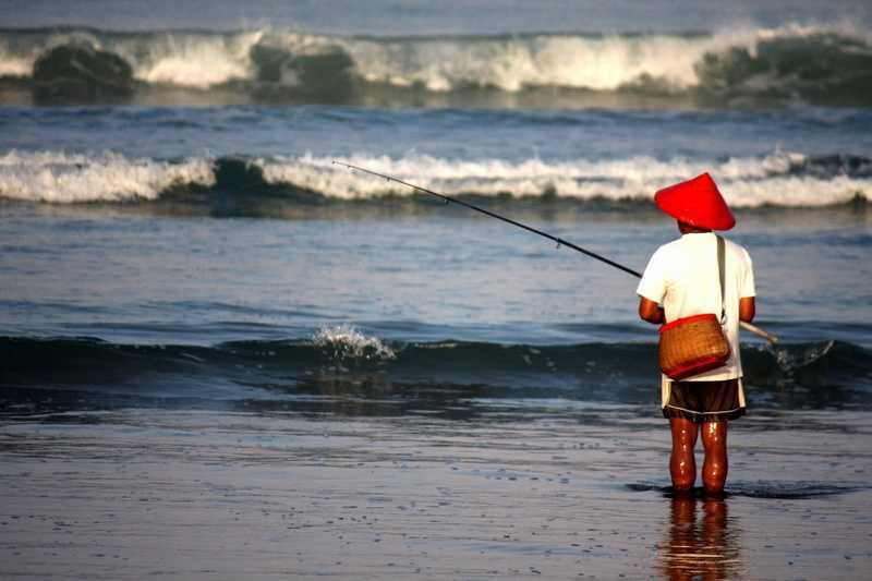 Бали рыбалка с берега