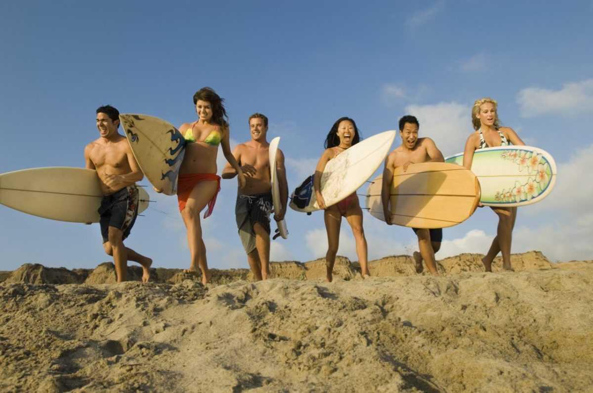 групповой серфинг тур на Бали